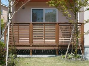 ウッドデッキ用フェンス横板貼り【化粧貼りタイプ】
