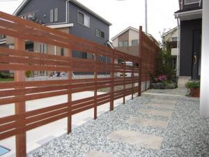 創作ウッドフェンス各種施工例