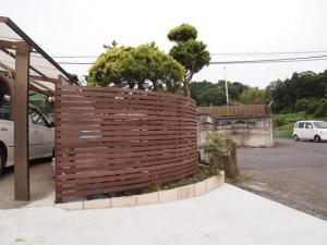 木製アールフェンス(H1.4m)